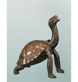 Chelone – Bronzeskulptur einer Schildkröte