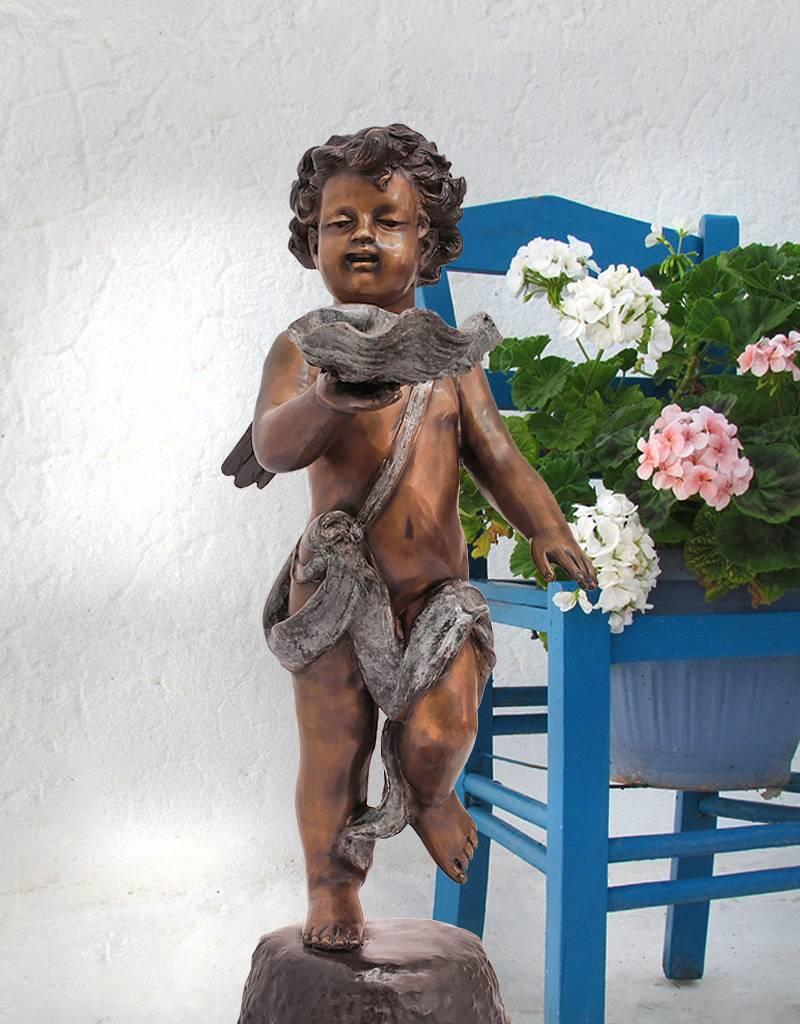 Aggelos – Putto mit Schale Skulptur