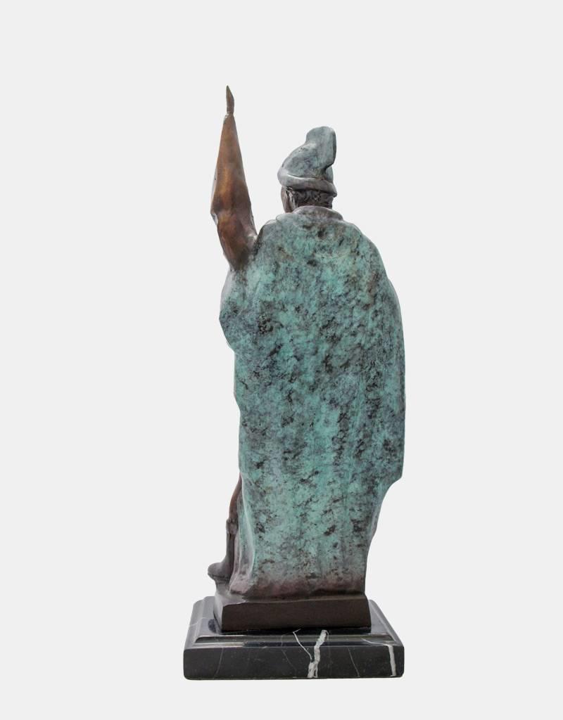 Florian von Lorch – Bronzeskulptur auf Marmorsockel