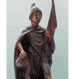 Florian von Lorch – Bronzefigur braun