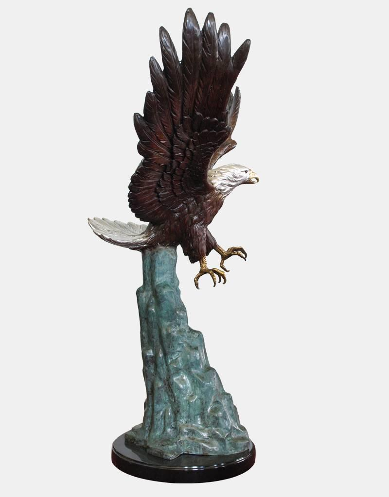 Argos Volantis – Adler aus Bronze auf Marmorsockel