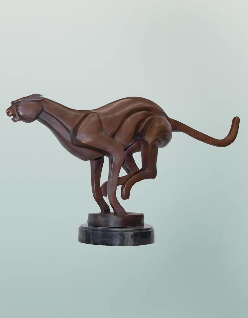 Cheetah – Abstrakter Gepard Bronzefigur