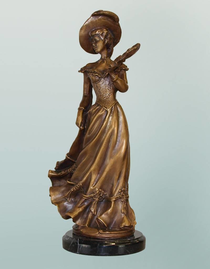 Aemilia – Jugendstil Bronzefigur einer Dame