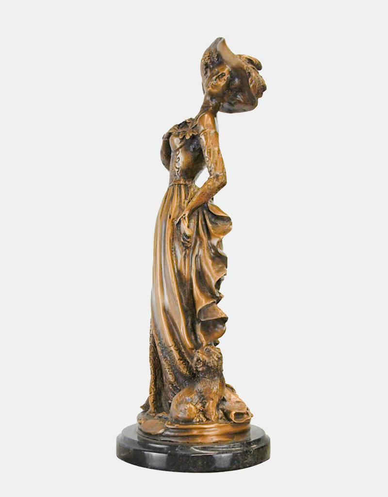 Bellina – Bronzeskulptur einer Dame