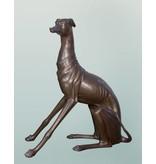 Grand Tesem – Überlebensgroßer Windhund Bronzefigur