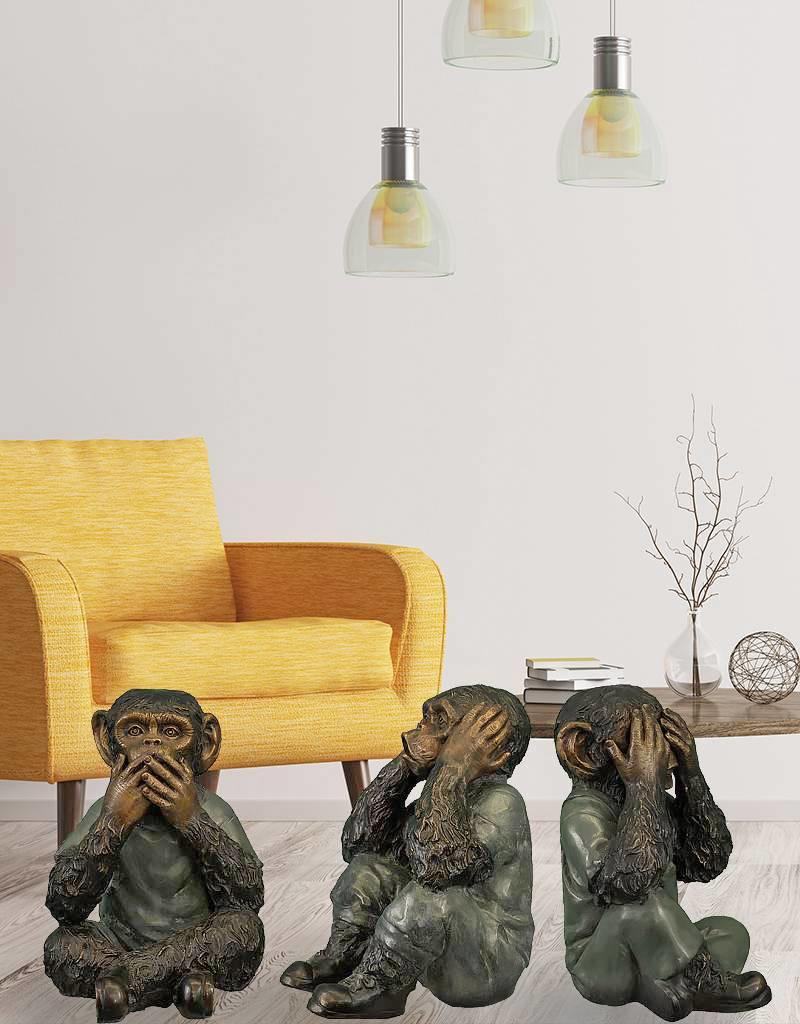 Sanzaru – Affen-Trio Bronzefiguren