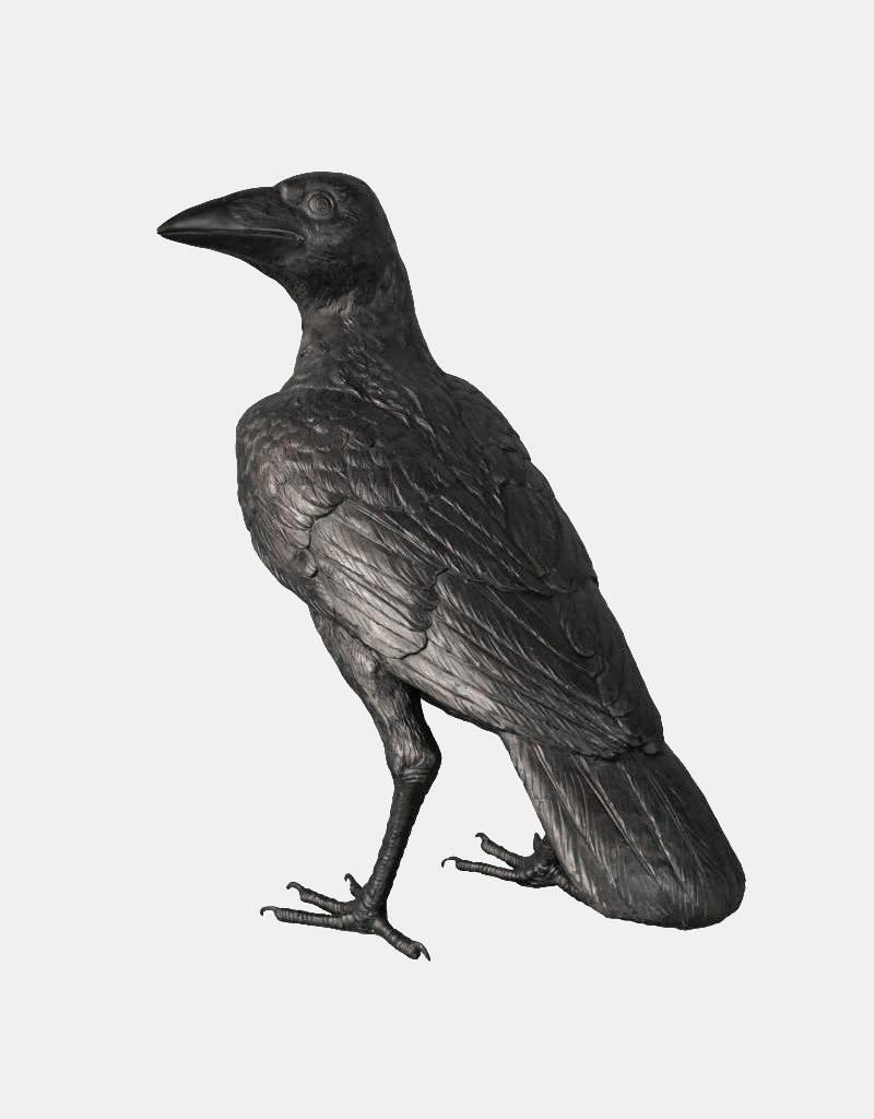 Corvus – Überlebensgroßer Rabe aus Bronze