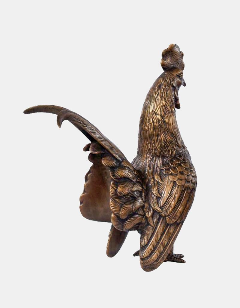 Gallus – Skulptur Hahn aus Bronze