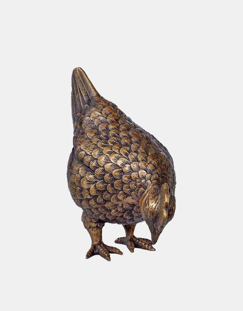 Gallina – Bronzefigur einer Henne