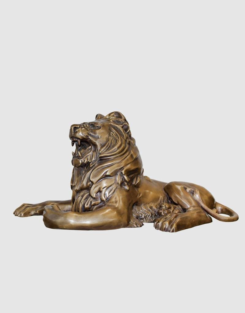 Linus Duett – Löwenpaar Bronzefiguren Torwächter