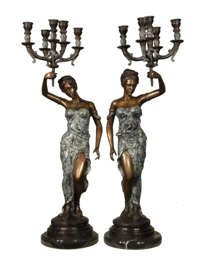 Lucerna Duett – Kerzenleuchter-Paar aus Bronze