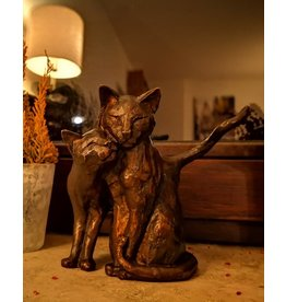 Felis – Hauskatzen kleine Bronzefigur