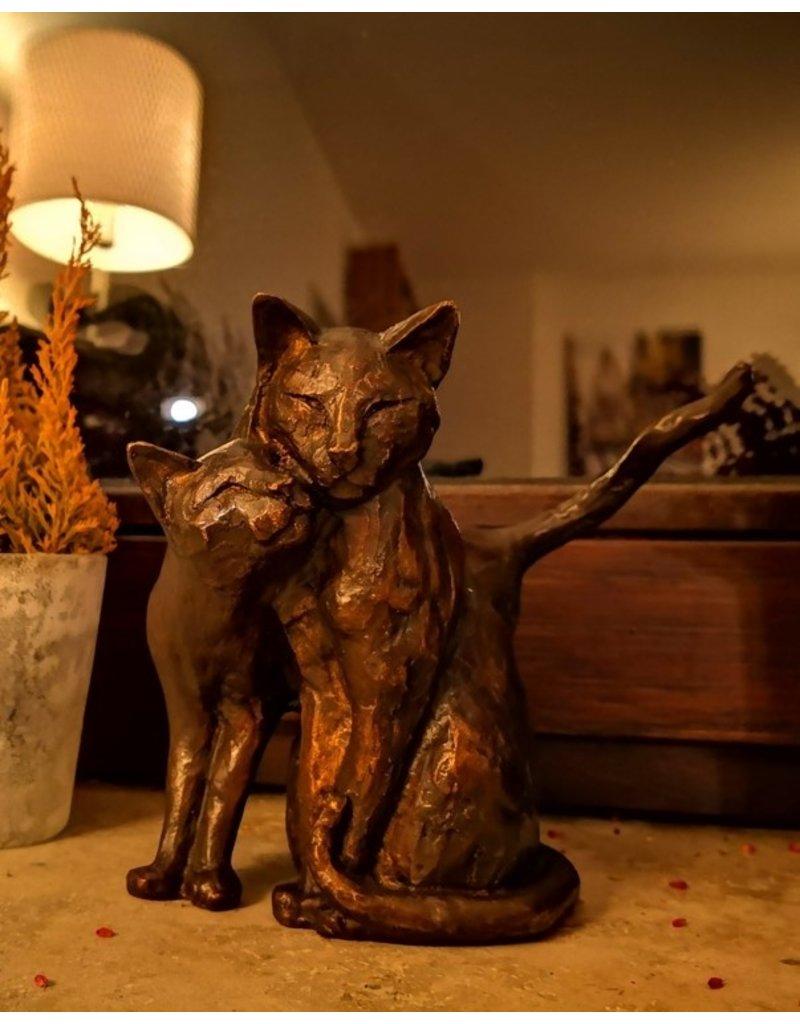 Felis – Hauskatzen kleine Bronzestatue