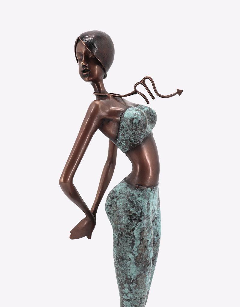 Scorpio – Sternzeichen Skorpion Bronzestatue
