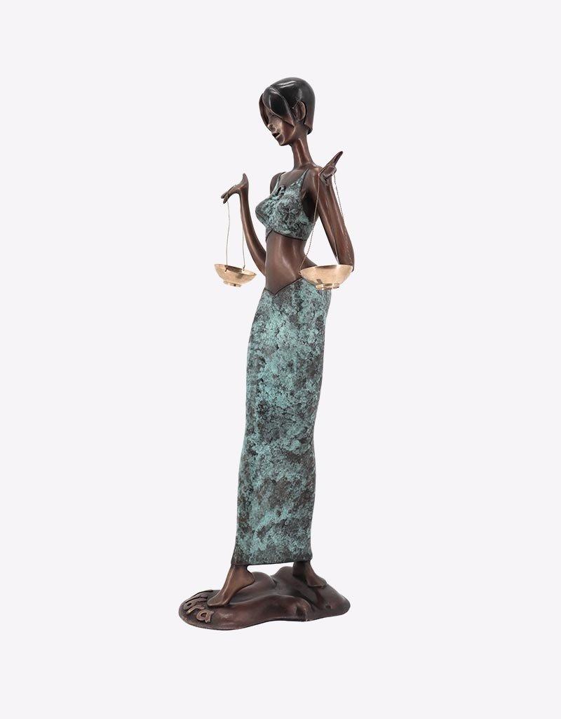 Libra – Sternzeichen Waage Bronzefigur