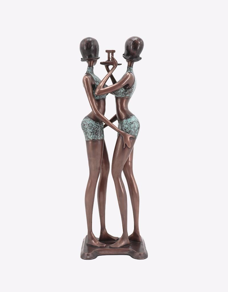 Gemini – Sternzeichen Zwilling Bronzeskulptur