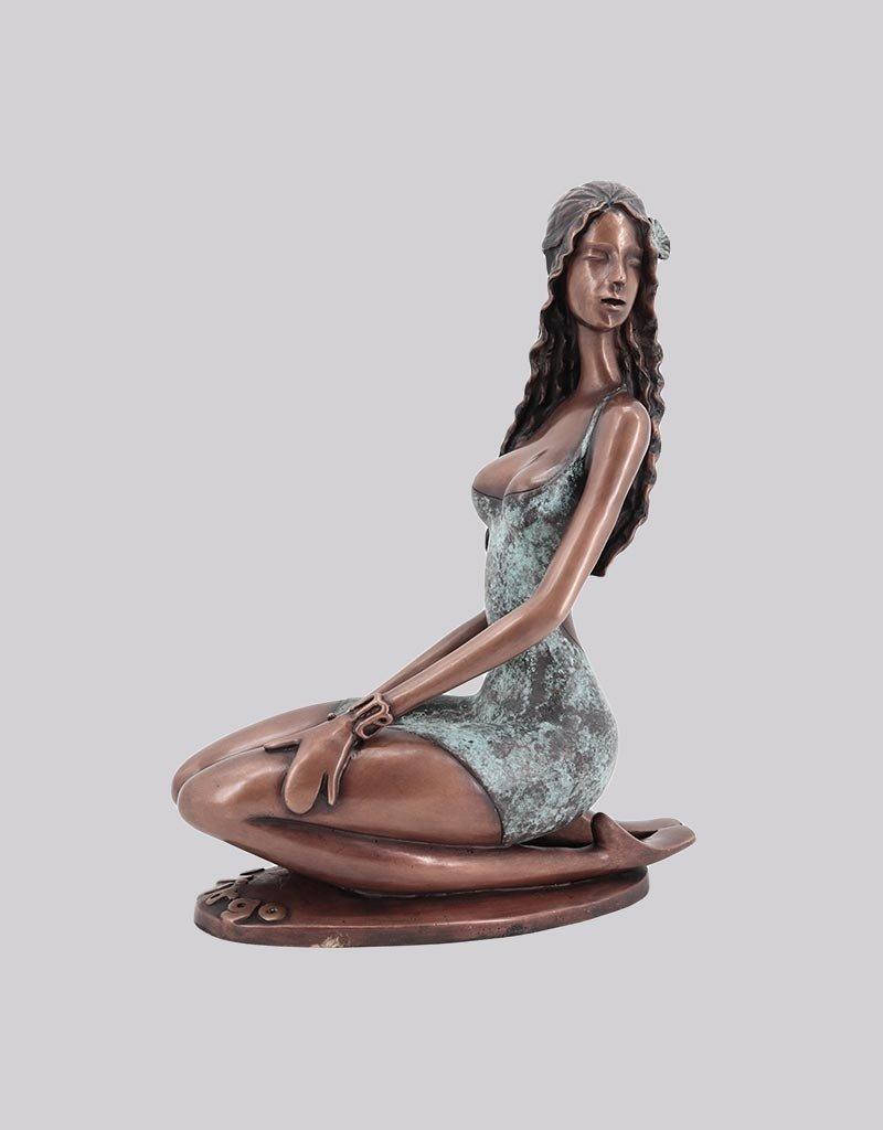 Virgo – Sternzeichen Jungfrau Bronzefigur