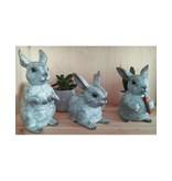 Tapsi – Kaninchen Trio aus Bronze