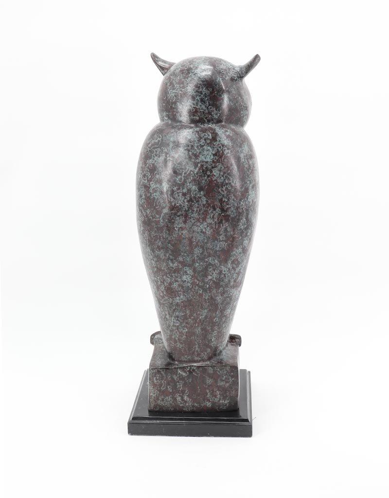 Athena – Große Eule Bronzefigur