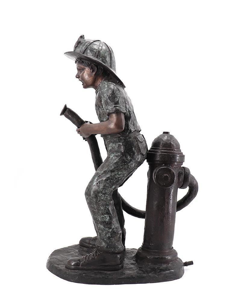 Florian – Feuerwehrjunge Wasserspeier Bronze