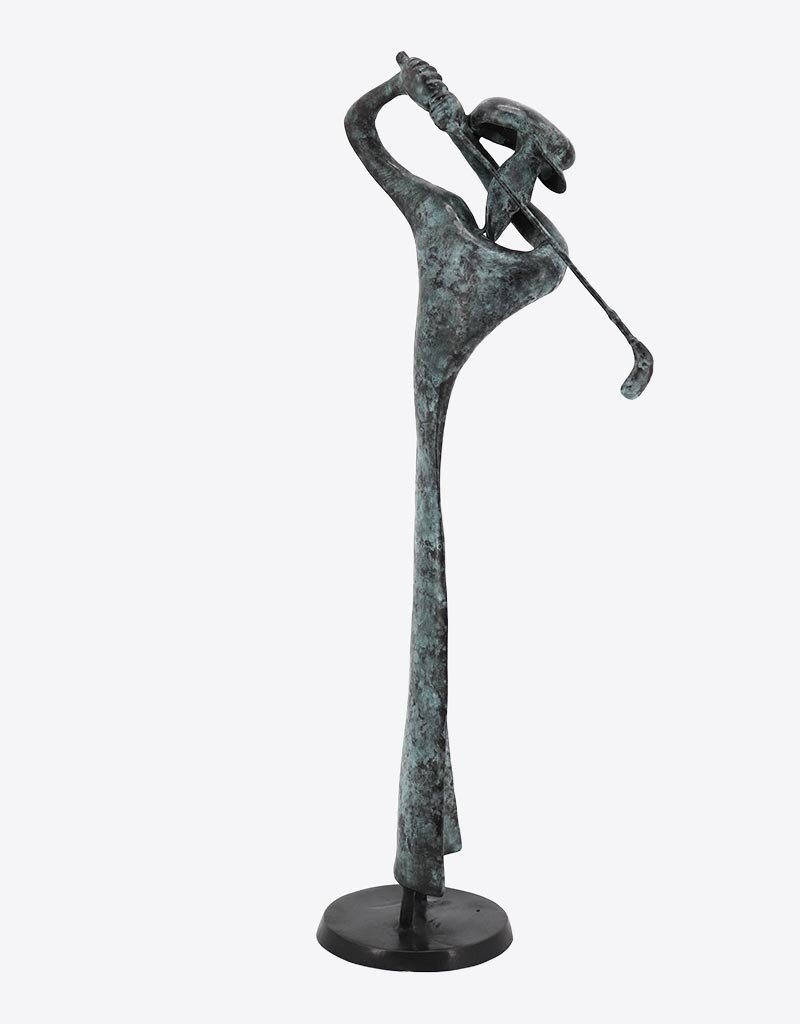 Tiger – Abstrakter Golfspieler Bronzefigur