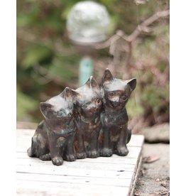 Trias – Drei Kätzchen aus Bronze