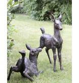Flecki – Zwei Rehkitze Bronzefiguren