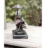 Tom – Kater im Urlaub Bronzestatue