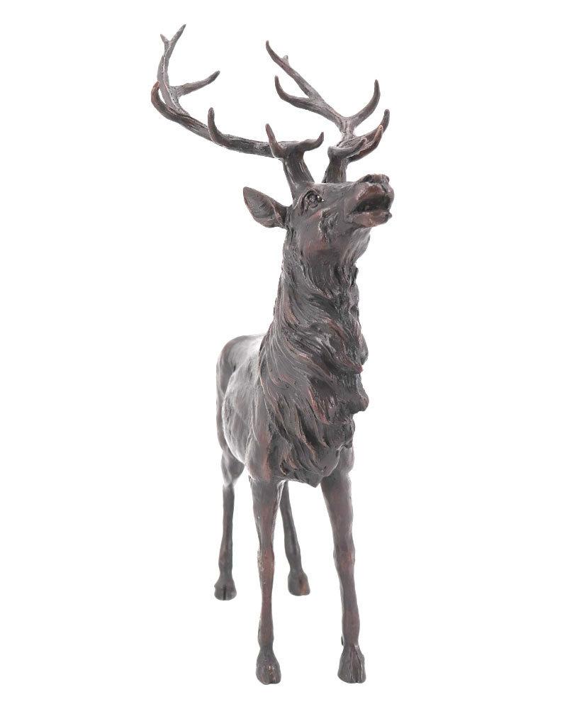 Rudolf – Hirsch Bronzestatue Gartenfigur