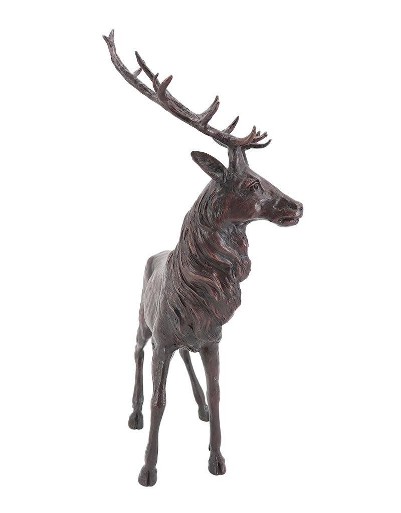 Hubertus – Hirschfigur aus Bronze
