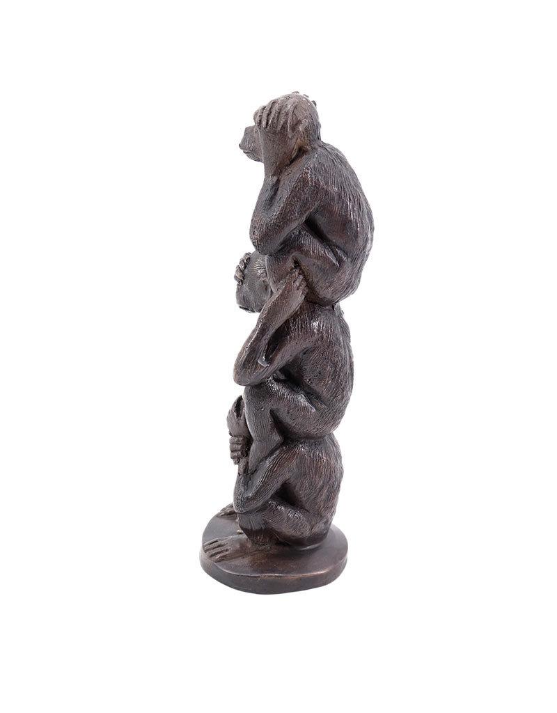 Die drei Affen – Bronzeskulptur