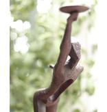 Falles – Teelichthalter Bronzefigur