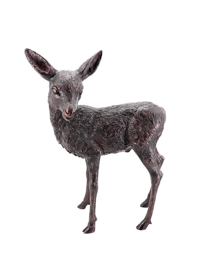 Tim – Stehendes Rehkitz Bronzefigur