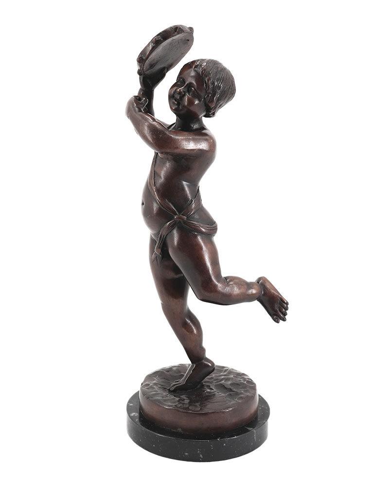Emil – Junge mit Tamburin Bronzefigur