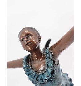Attitude – Ballerina aus Bronze