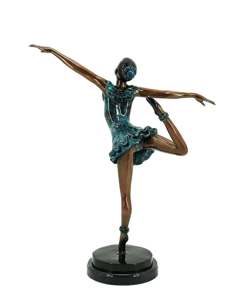 Attitude – Ballerina Figur aus Bronze