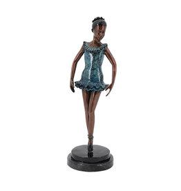 Pas de Bourrée – Ballett Bronzefigur