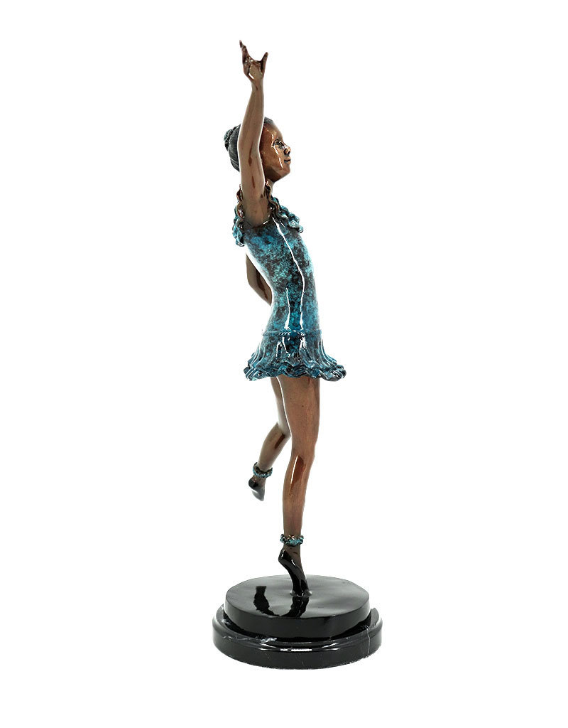 Arabesque – Ballerina Tänzerin Bronzefigur