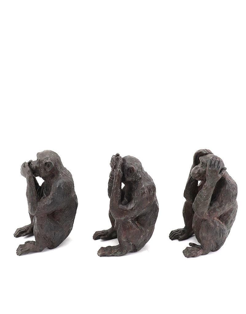 Kleine Sanzaru – Die drei Affen Bronzefiguren