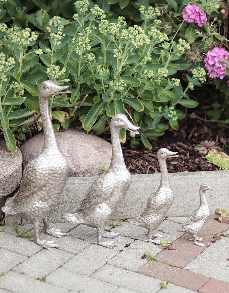 Quack – Vier Laufenten Bronzefiguren