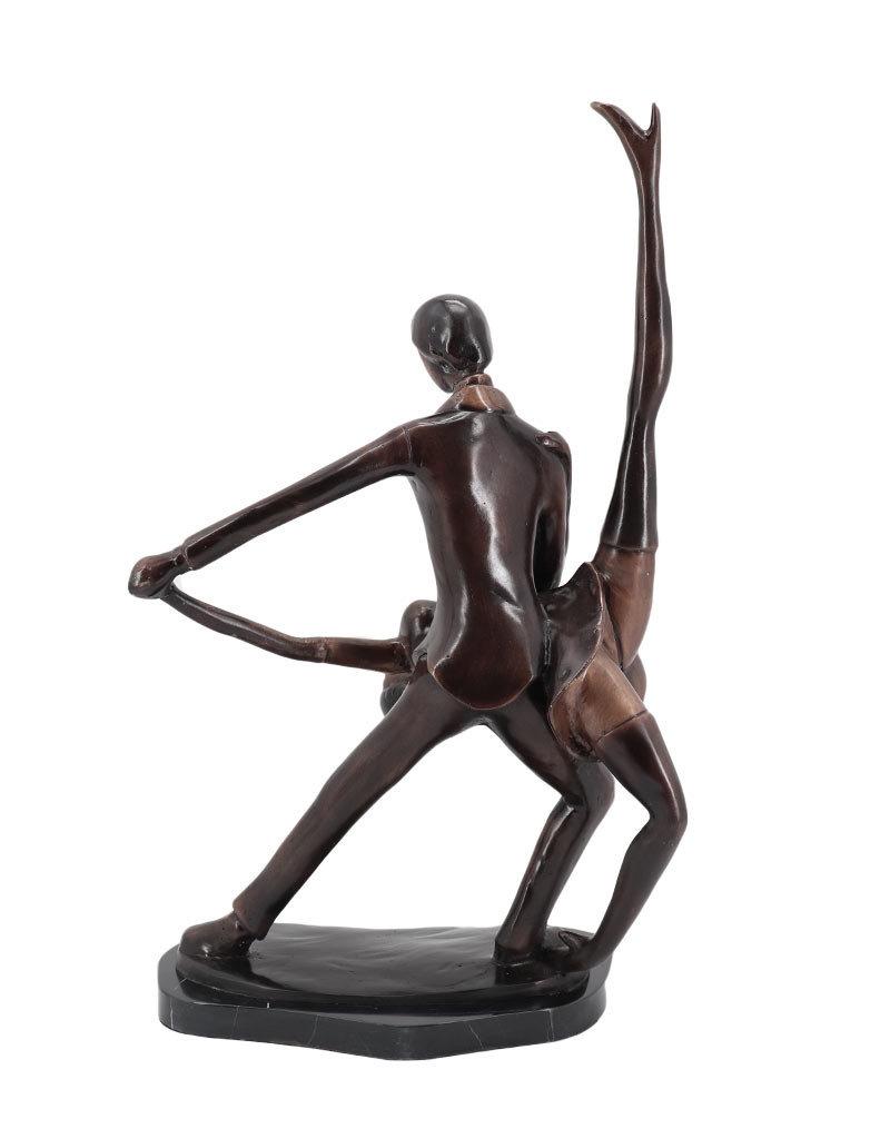 Salsa – Tanzpaar Bronzestatue auf Marmor