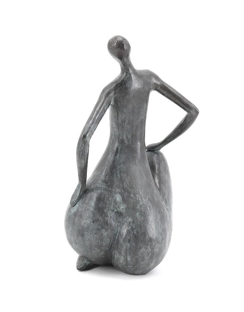 Sitzender Akt – Frau Bronzestatue