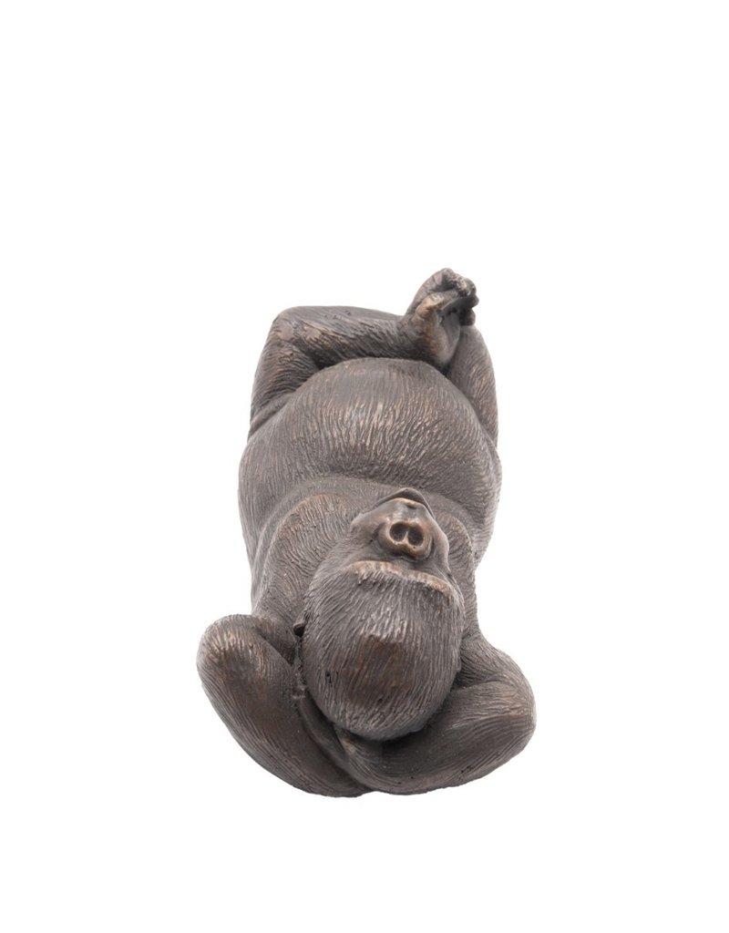 Felix – Liegender Gorilla aus Bronze