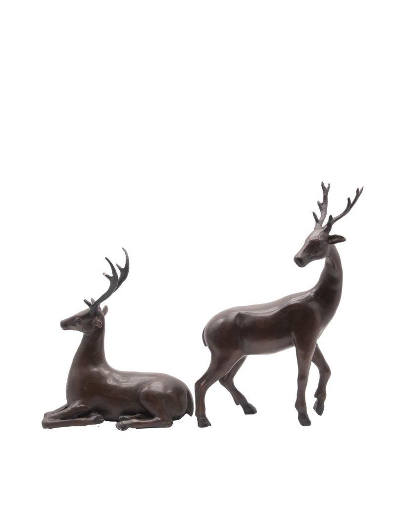 Hirsch Duo – Bronzeskulpturen Set
