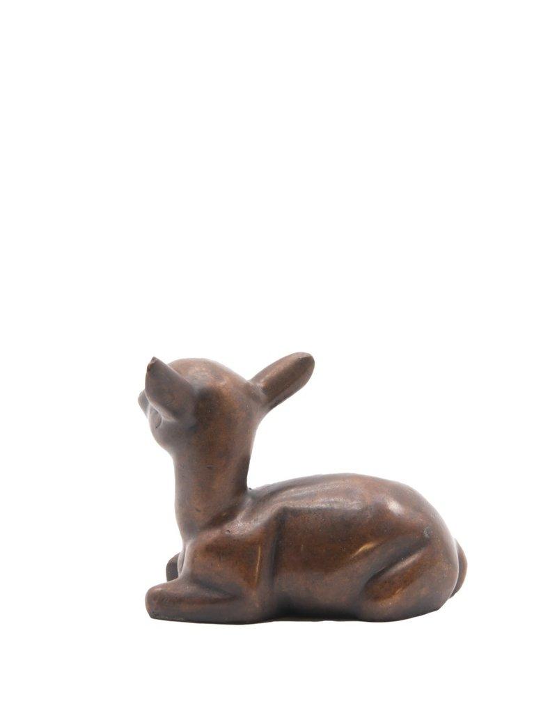Rehkitz – Handschmeichler Bronzefigur
