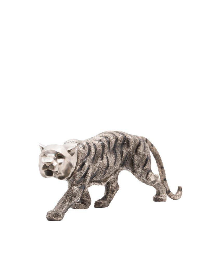 Art Deco Tiger – Skulptur aus Bronze