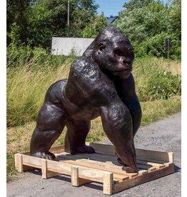 Silberrücken – Riesiger Gorilla Bronzefigur