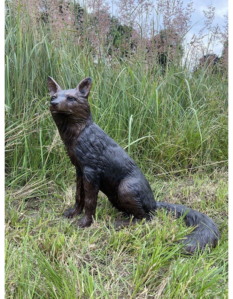 Inari Sedeo – Lebensgroßer sitzender Fuchs Skulptur