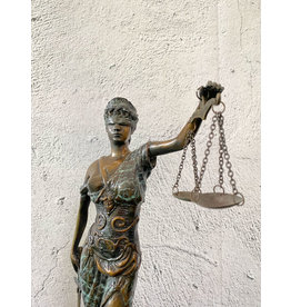 Stehende Justitia – Bronzefigur