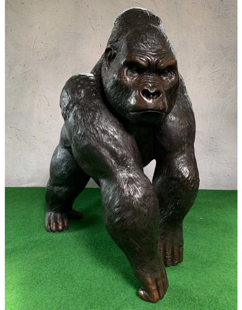 Silberrücken – Riesiger Gorilla Skulptur